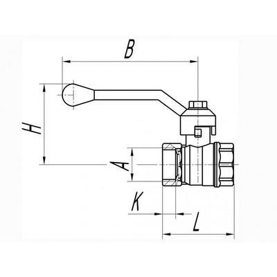 Кран газовый, 15 (мм) В/В