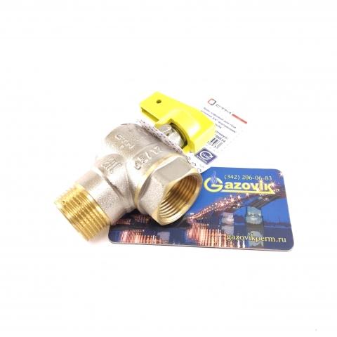 Кран газовый угловой, 20 (мм) В/Н