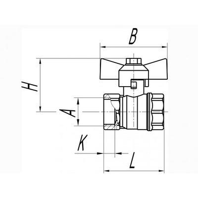 Кран газовый,15 (мм) В/В