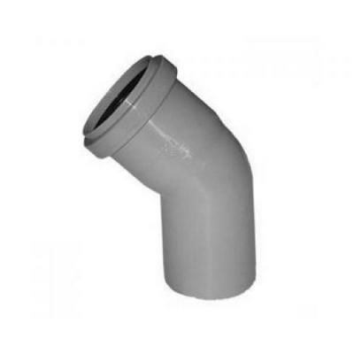 Отвод канализационный 50 - 45 градусов