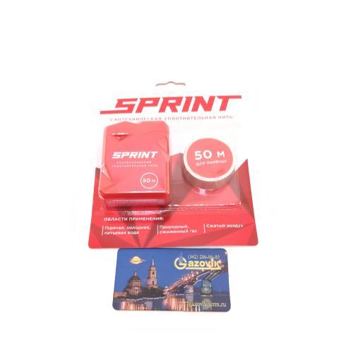 Уплотнительная нить Sprint 50 м бокс+50 м катушка