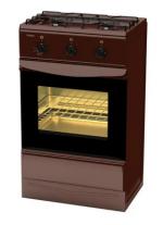 Плита газовая Лада ПГ-2 с духовкой 12120 - 03 щиток, коричневая
