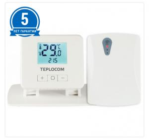 Беспроводной комнатный термостат TEPLOCOM TS-2AA/3A-RF