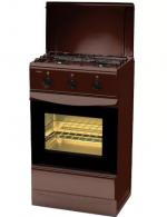 Плита газовая Лада ПГ-2 с духовкой 12120 - 04, с крышкой, коричневая