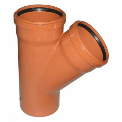 Тройник канализационный 110 - 45  градусов