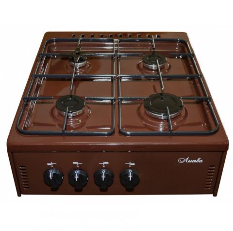 Плита газовая настольная Лысьва ПГН 41 М - коричневая