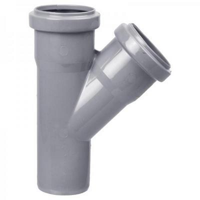 Тройник канализационный 50 - 45 градусов