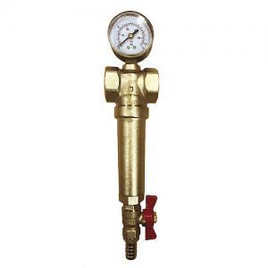 Фильтр для горячей воды СТМ 1 дюйм, с манометром