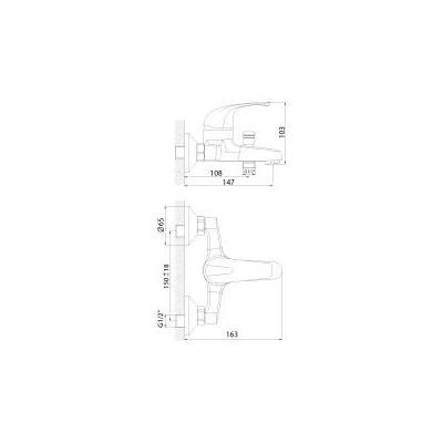 Смеситель для ванны Rossinka Silvermix D 40-31