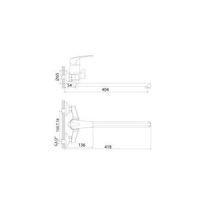 Смеситель для ванны Rossinka Silvermix D 40-32
