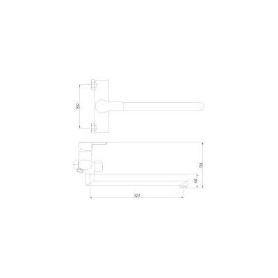 Смеситель для ванны Rossinka Silvermix J 35-32